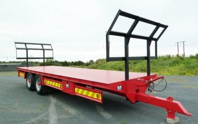 Flat Bed Bale Trailer